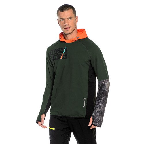 Bluza Reebok DT Stretch OTH męska sportowa do biegania z kapturem