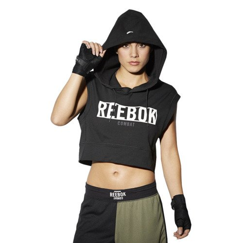 Bluza Reebok Train Like A Fighter Hoody damska sportowa bezrekawnik z kapturem