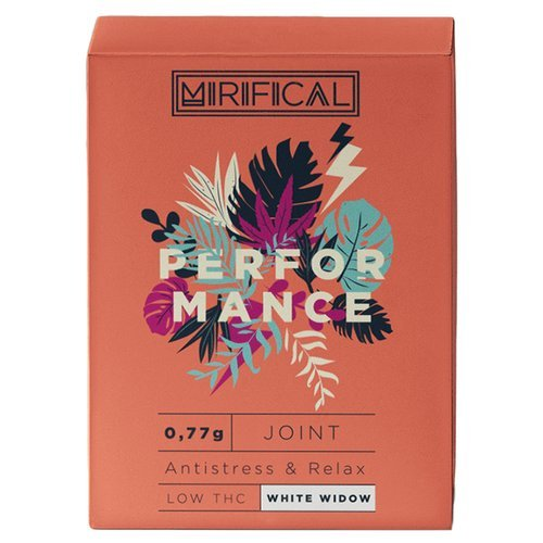Komplet 5 Joint'ów Mirifical Pre-Rolls Premium CBD 0,7g White Widow Performance