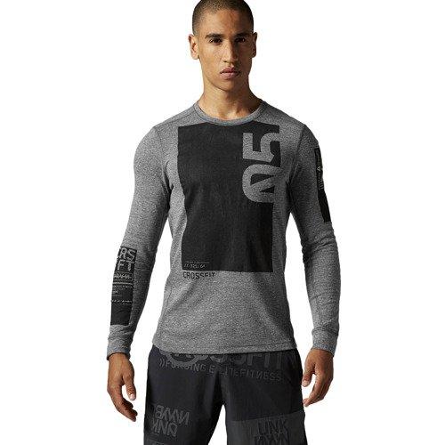 Koszulka Reebok CrossFit Triblend męska treningowa na długi rękaw
