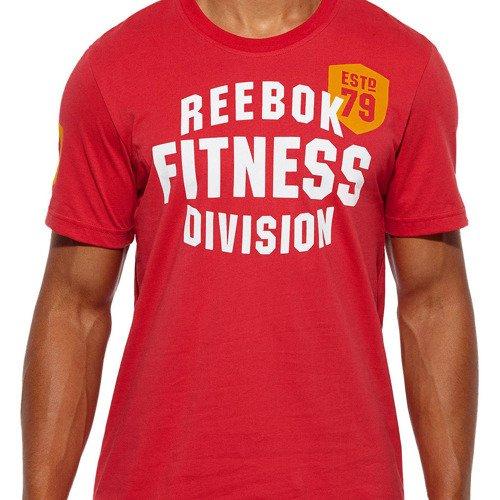 Koszulka Reebok Fitness Division męska t-shirt sportowy bawełniany