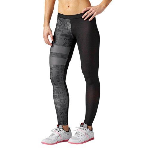 Legginsy Reebok CrossFit Stripes damskie getry termoaktywne kompresyjne
