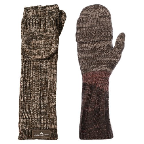 Rękawiczki Adidas Stella McCartney mitenki z klapką bez palców zimowe