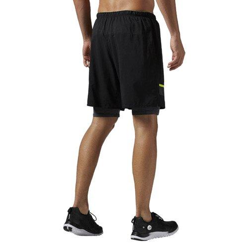 Spodenki 2w1 Reebok One Series Running męskie szorty termoaktywne treningowe
