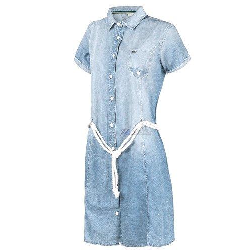 Sukienka Adidas ST Denim tunika dziecięca jeansowa bawełniana